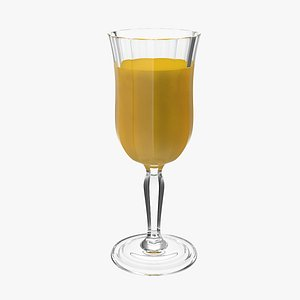 3D model glass orange juice