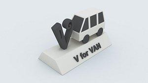 van learning printable 3D model