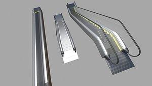 escalator architecture 3D model