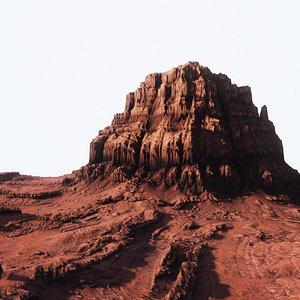 3D Desert Mountain 001