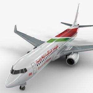 3D model boeing 737-8 royal air