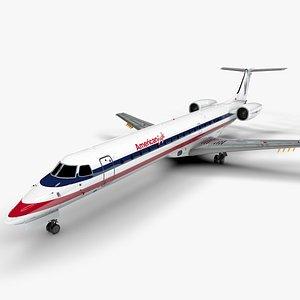 AMERICAN EAGLE EMBRAER ERJ 145 L1391 3D model
