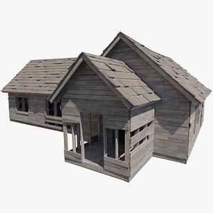 abandoned house prairie building model