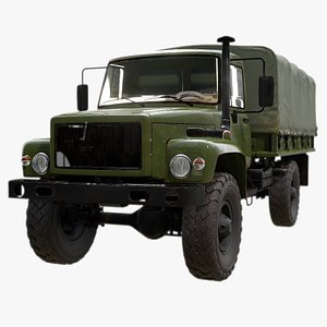 Military Truck - GAZ-3308 Sadko 3D model