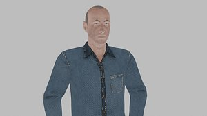 3D Elder man 1