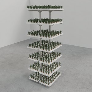 Vertical farm hydroponic 3D