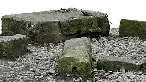 rocks raw 3D model