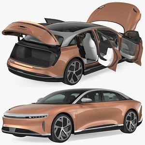 lucid air 2021 electric 3D model