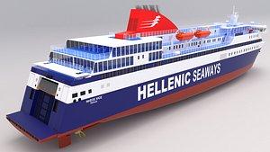 3D model hellenic seaways nissos chios