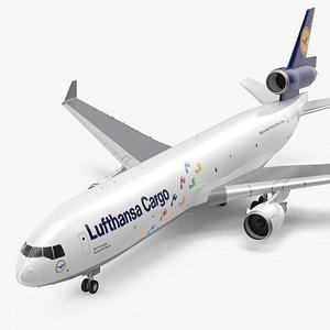 3D model McDonnell Douglas MD11 Tri Jet Airliner Lufthansa Cargo