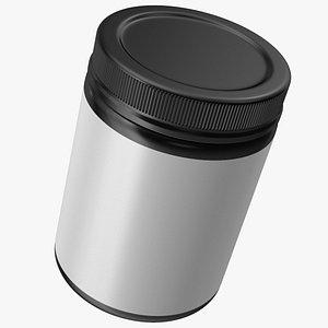 3D model Collagen 200 Grams Jar Blank