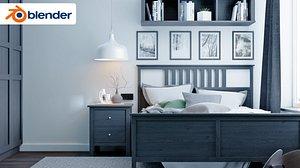 3D ikea room bedroom model