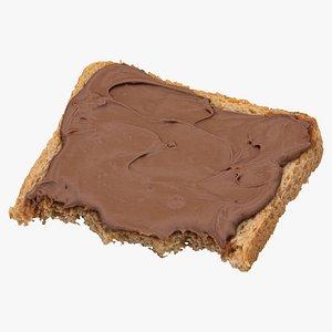 3D toast dark chocolate 03 model
