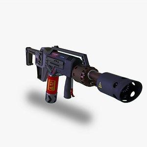 3D Gameready PBR hand Flamethrower
