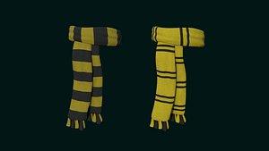 3D hogwarts scarf - hufflepuff