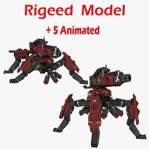 3D model Mechanical Spider 3D model