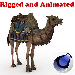 Camel Rigged and Animated 3D model
