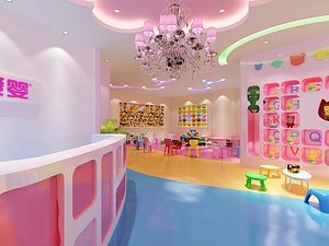 Cartoon Children's Park Parent-child Activity Room Kindergarten Cute Baby Center model