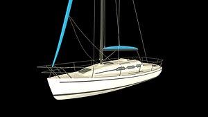 3D model yatch boat model