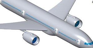 aircraft 300 passengers 3D