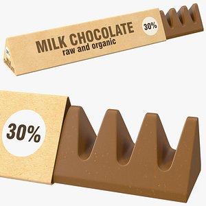 Opened Craft Chocolate Bar model