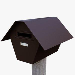 Old Metal Mailbox model