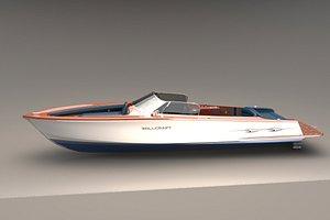 yacht retro 3D model
