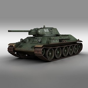 3D t-34 t-34-76 medium model