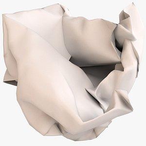 3D crumpled ball paper