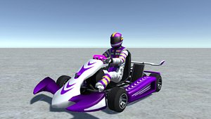 3D - vehicle player kart model