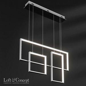 rectangle geometry chandelier model