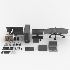 Electronics Pack Low Poly 3D model