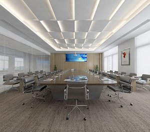 3D model Conference Room Conference Table Office