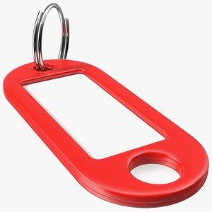 3D Plastic Key Tag with Split Ring model