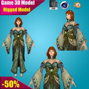 3D hero cartoon female