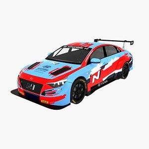 3D Hyundai Elantra N TCR Lukoil Racing Team