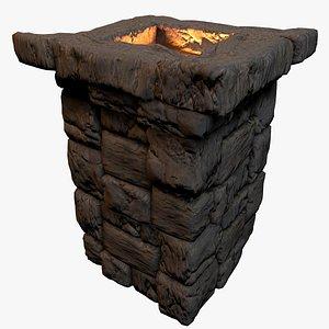 medieval chimney rocks 3D model