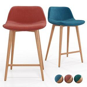 Bar Chair Lavergne 3D model