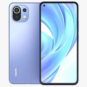 3D Xiaomi Mi 11 Lite  Blue