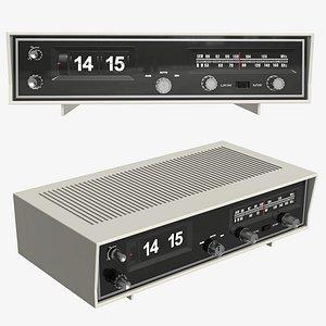 alarm clock radio 3D model