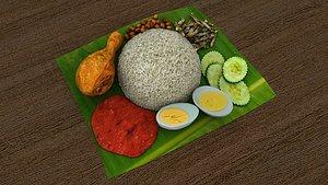 3D nasi lemak