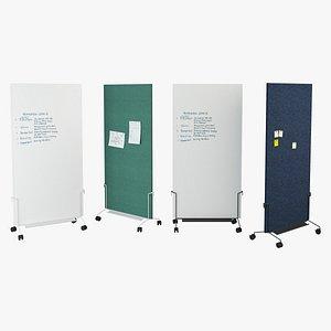 3D Herman Miller Oe1 Mobile Easel Whiteboards