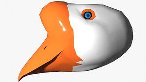 3D Goose Head lowpoly
