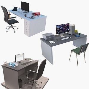 3D office desk workstation