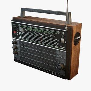 Vintage radio model Ocean-209 3D model