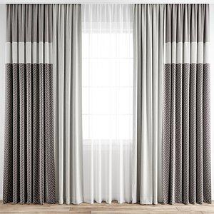 3D Curtain 207 model