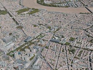 3D bordeaux city