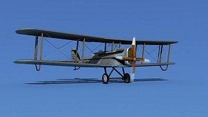 3D model Airco DH-4 V05 Mail Plane