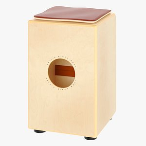 3D traditional string cajon drum