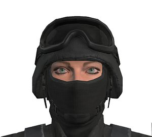 3D swat police officer model